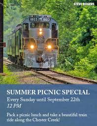 west chester railroad west chester pa make a picnic lunch and