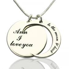 I Love You To The Moon And Back Personalized Necklace Personalized Gift I Love You To The Moon And Back Love Necklace