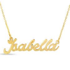 Nameplate Necklaces Isabella Nameplate Necklace In Gold Superjeweler Com