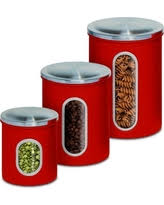 Square Kitchen Canisters by Great Deals On Red Canister Sets