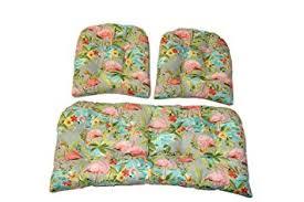 amazon com 3 piece wicker cushion set waverly elegant tropical
