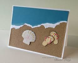 such a beachy card the sandpaper sand card ideas