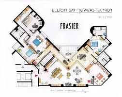 12 best floor plans of famous tv apartments images on pinterest
