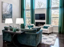 Torquoise Curtains Blue Turquoise Curtains For Living Room Use White Sofa And