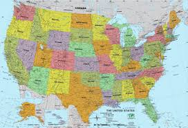 Map Of United States With Interstates by United States Wall Maps