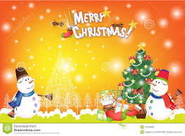 colorful christmas card background with snowman and xmas