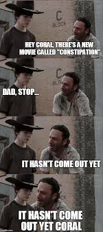 Carl Walking Dead Meme - 18 terrible rick grimes dad jokes funny gallery ebaum s world