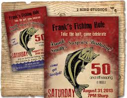 fishing birthday party invitation invite 30th 40th 50th