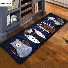 teppich k che nordic winter dschungel rutschfeste teppich küche matten bett