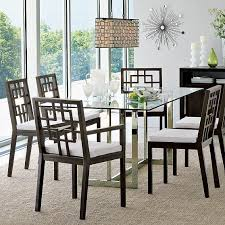 glass top dining room tables rectangular for fine dining room