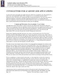 cover letter examples university position