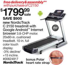 black friday deals on treadmills black friday deal nordictrack c2150 treadmill with google android