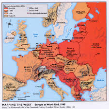 Map Of Europe 1945 by Europe Old Friendships Hesitant Alliances By Gaither Stewart