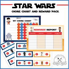 free star wars chore chart u0026 reward pack family