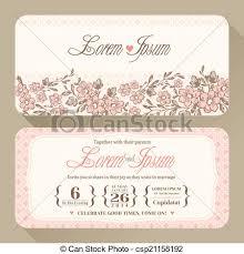 wedding invitation card design template vintage floral wedding invitation card design template eps vectors