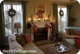 christmas mantel with santa the diy village