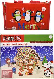 amazon com diy pre baked holiday peanuts gingerbread house kit