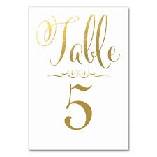 what size are table number cards wedding table number cards gold foil personalized zazzle com