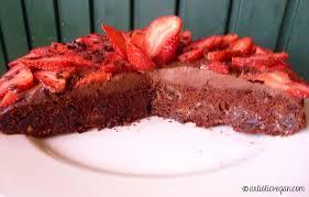 skinny chocolate cake with chocolate ganache artistic vegan show
