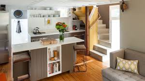 small house with concrete stair and small kitchen good small