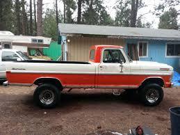 ford f250 1972 1972 ford f250 4x4 high boy orange and white ford f 250