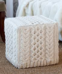 Ottoman Cover Knitted Ottoman Slipcover Genius And Beautiful Diy S Ideas