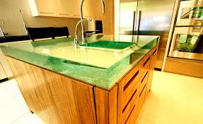 unique kitchen countertop ideas large glass countertops plus they can backlight the countertops
