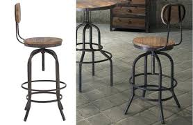 Industrial Metal Bar Stool Industrial Counter Stools With Back 7568