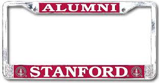 stanford alumni license plate frame standard chrome license plate frames supplier strand