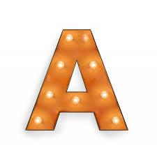 letter a with light bulb reallynicethings