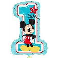 mickey mouse 1st birthday mickey mouse 1st birthday shape character foil mylar balloon 2