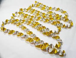 vintage 60 u0027s aluminium foil christmas tree garland twists gold