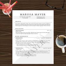 Create Your Own Resume Template Resume Template Instant Digital Download Cover Letter