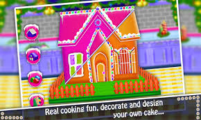download free gingerbread house cake maker diy cooking game for