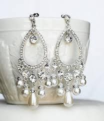 rhinestone chandelier earrings bridal earring wedding earring rhinestone chandelier earrings