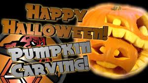 happy halloween pumpkin carving speedart youtube