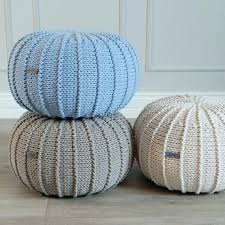 Ottoman Knitted Pouf Knitted Ottoman Jessicastable Co