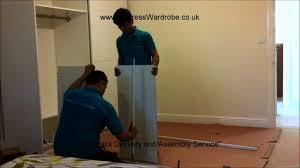 making of ikea pax sliding door wardrobes youtube