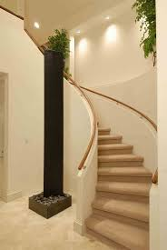 decorations black steep stairscase in house interior with white