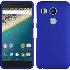 lg nexus 5x lg google nexus 5x rubberized snap on hard cover case blue