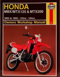 honda mbx mtx125 u0026 mtx200 83 93 haynes repair manual haynes