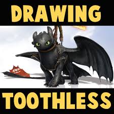 draw toothless train dragon 2 easy