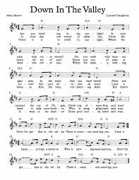 thanksgiving hymns free sheet music for down in the valley hymn enjoy free lead