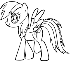 rainbow dash coloring pages to print funycoloring