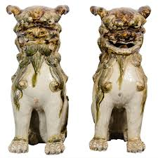foo dogs for sale a pair of late edo period sculptural japanese porcelain foo dogs