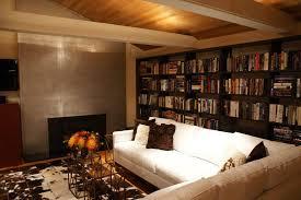 Ceiling Bookshelves by Sloped Ceiling Bookshelves Sunroom Traditional With Folding Stool