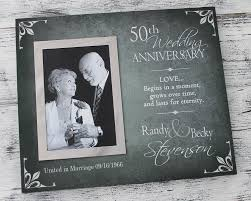 anniversary gifts personalized 50th wedding anniversary picture frame golden wedding anniversary
