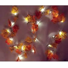 meedoo 14 7ft autumn garland 8 modes battery powered lighted fall