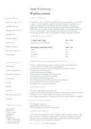 resume exles no experience waiter resume exles
