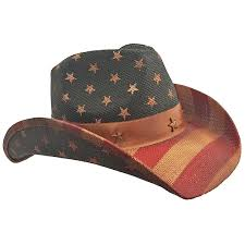White Blue Orange Flag American Flag Distressed Cowboy Hat At Amazon Men U0027s Clothing Store